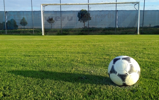 football-field and ball